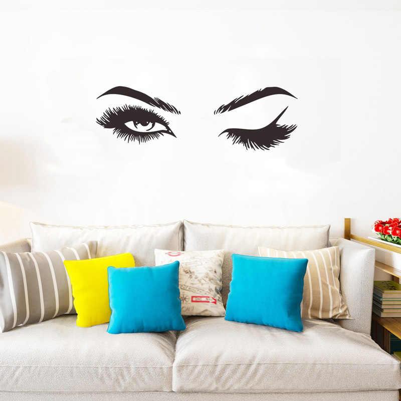 ملصقات جدارية لرموش جميلة مبتكرة لتزيين غرفة المعيشة والغرفة والمنزل ملصقات فنية جذابة