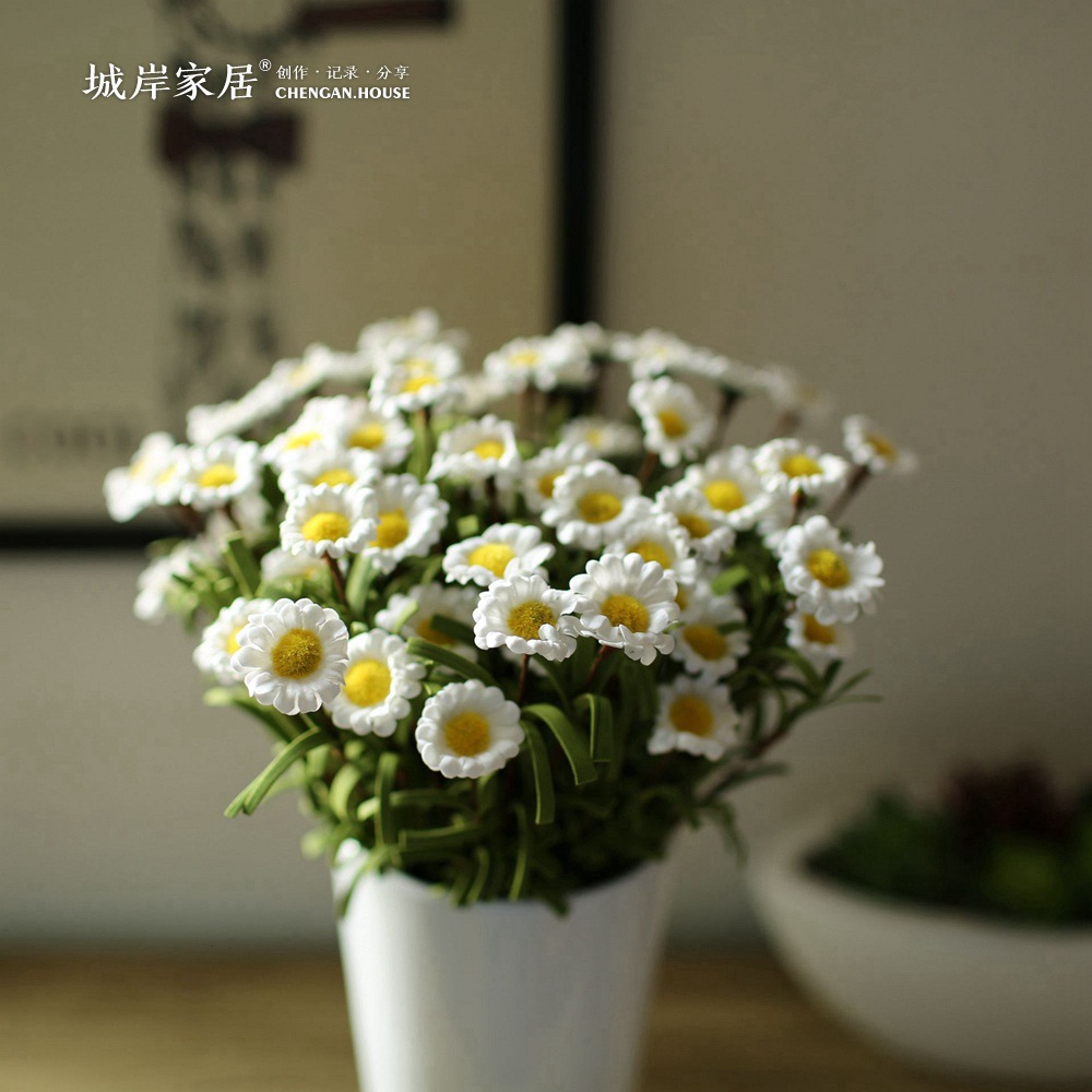 Aliexpress buy high grade simulation flower pe little daisy flowers plastic bellis perennis home decoration flower arranging from reliable aliexpress buy high grade simulation flower pe little daisy flowers plastic bellis perennis home decoration flower a