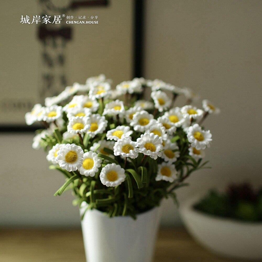 alto grado de simulacin de pe pequeas flores de la margarita bellis perennis plstico decoracin
