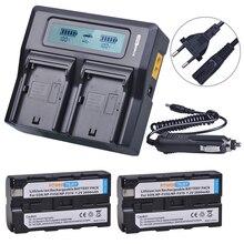 2 шт. 2600 мА/ч, NP-F550 NP-F570 F550 F570 Батарея и быстрой Зарядное устройство для sony NP-F330 NP-F530 NP-F570 NP-F730 NP-F750 Hi-8