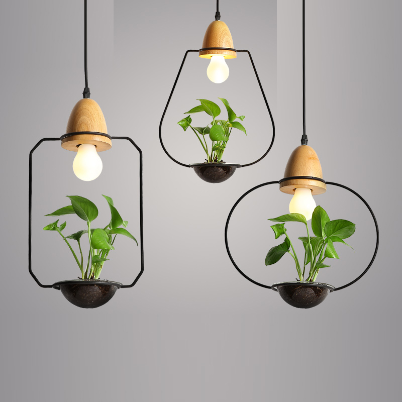 EuSolis Plant Wood Pendant Lights With Glass Lampara Kitchen Light Hanglampen Abajur Aydinlatma Dining Room Lights Country Farol цена