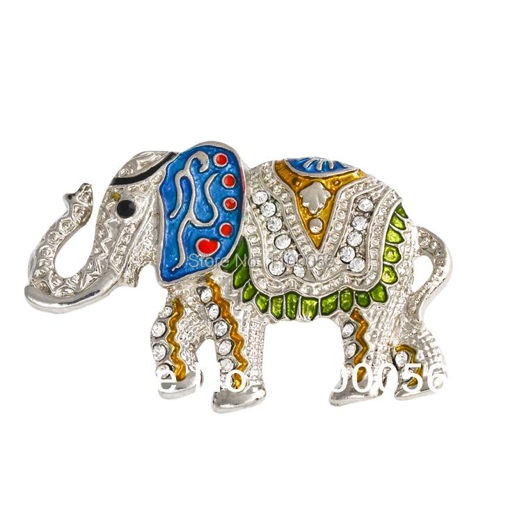 Decorative Cute Diamante Felt Elephant Brooches Wholesale