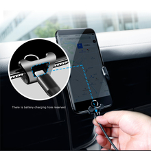 Baseus Gravity Car Mount for Mobile Phone Leather + Metal Shell