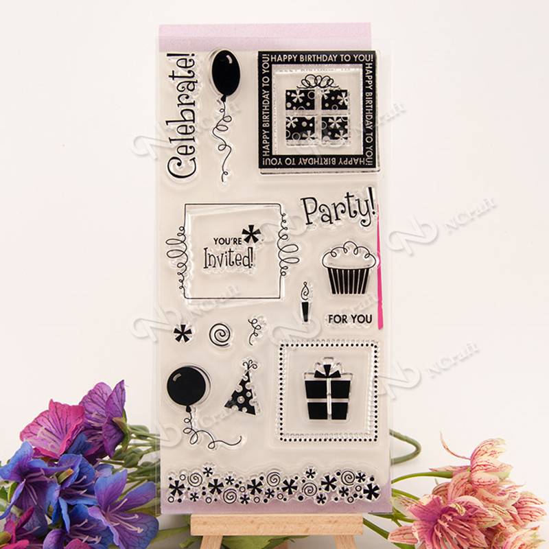 1PC DIY Party invitation Transparent Silicone Clear Rubber Stamp Sheet Cling Scrapbooking Craft Card  10X20CM T-0136 500x0 8mm silicone rubber sheet transparent silicone rubber sheet 500mm width 0 8mm thickness 10meters