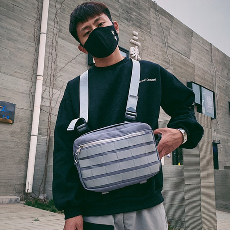 Chest Rig Bags Adjustable Pocket Hip Hop Streetwear Functional Breast Bag Cross Shoulder Bag