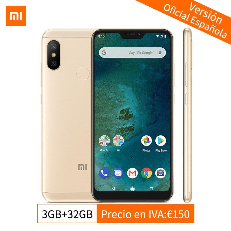 Mondial Version Xiao mi mi A2 Lite 3 gb 32 gb Mobile Téléphone Snapdragon 625 Octa base 5.84 Full écran AI Double Caméras Android 8.1 CE