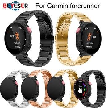 Drop shipping Wrist band Metal Stainless Steel Watch Band Strap bracelet For Garmin Forerunner 220 230 235 630 620 735 watchband
