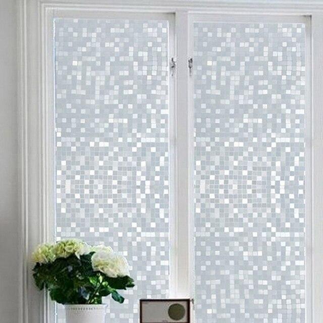 1pcs Waterproof Frosted Privacy Door Window Glass Film Sticker 45x100cm Square Lattice Pattern & 1pcs Waterproof Frosted Privacy Door Window Glass Film Sticker ...