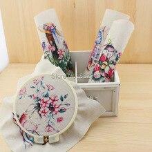 Zakka mão tingido 4 assorted cotton linen impresso quilt tecido para diy costura patchwork home textile decor 20×20 cm estilo rústico