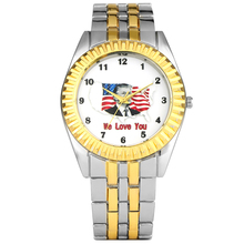 Men's Watch Unique American Flag with Donald Trump Pattern Dial Watch