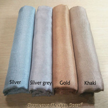 Luxury Women scarf shimmer plain scarves silklike soft musli