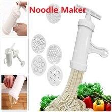 Ручной пресс для лапши, машина для приготовления макаронных изделий, кривошипный резак, кухонная посуда с 5 пресс-форм для приготовления спагетти, кухонные инструменты для приготовления пищи