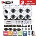 Tmezon ahd 1080 p dvr home security sistema de vigilância 8 pcs câmera 1080 p 2.0mp zoom 2.8-12mm kit lente cam à prova de intempéries ao ar livre