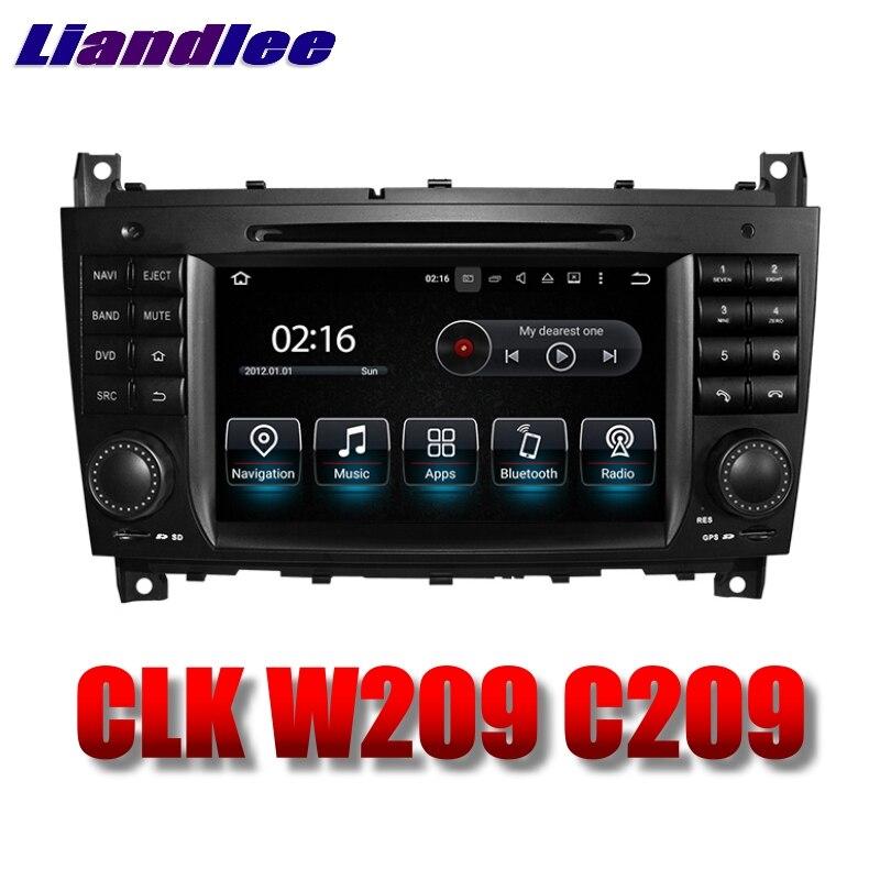 Lecteur multimédia de voiture Liandlee NAVI pour Mercedes Benz CLK W209 C209 MB 2004 2005 Radio à écran tactile DVD stéréo GPS Navigation