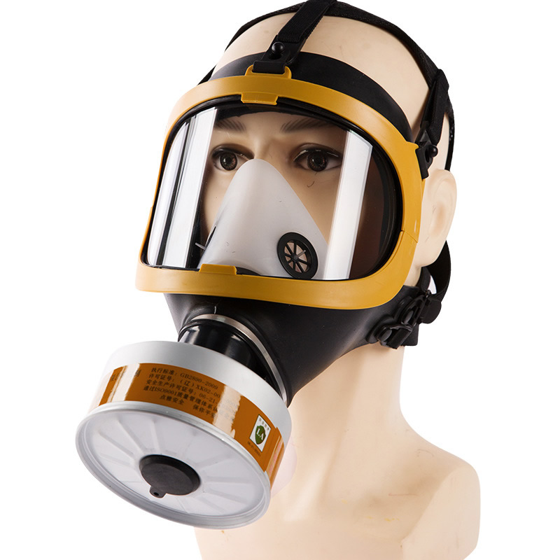 High Quality Full Face Dust Gas Mask Respirator Toxic Gas Filtering For Painting Pesticide Spraying Work Safety