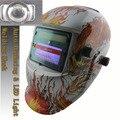 NUEVA luz LED batería de li + solar oscurecimiento automático máscara de soldadura/casco de la máscara gafas de soldador/gafas de protección máscara