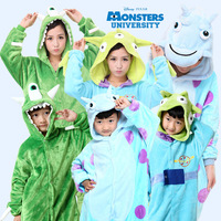Livraison gratuite Enfants Enfants Monsters University Mike Wazowski/sulley Costume Onesie Pyjamas Cosplay Spider-Man/Superman/Batman