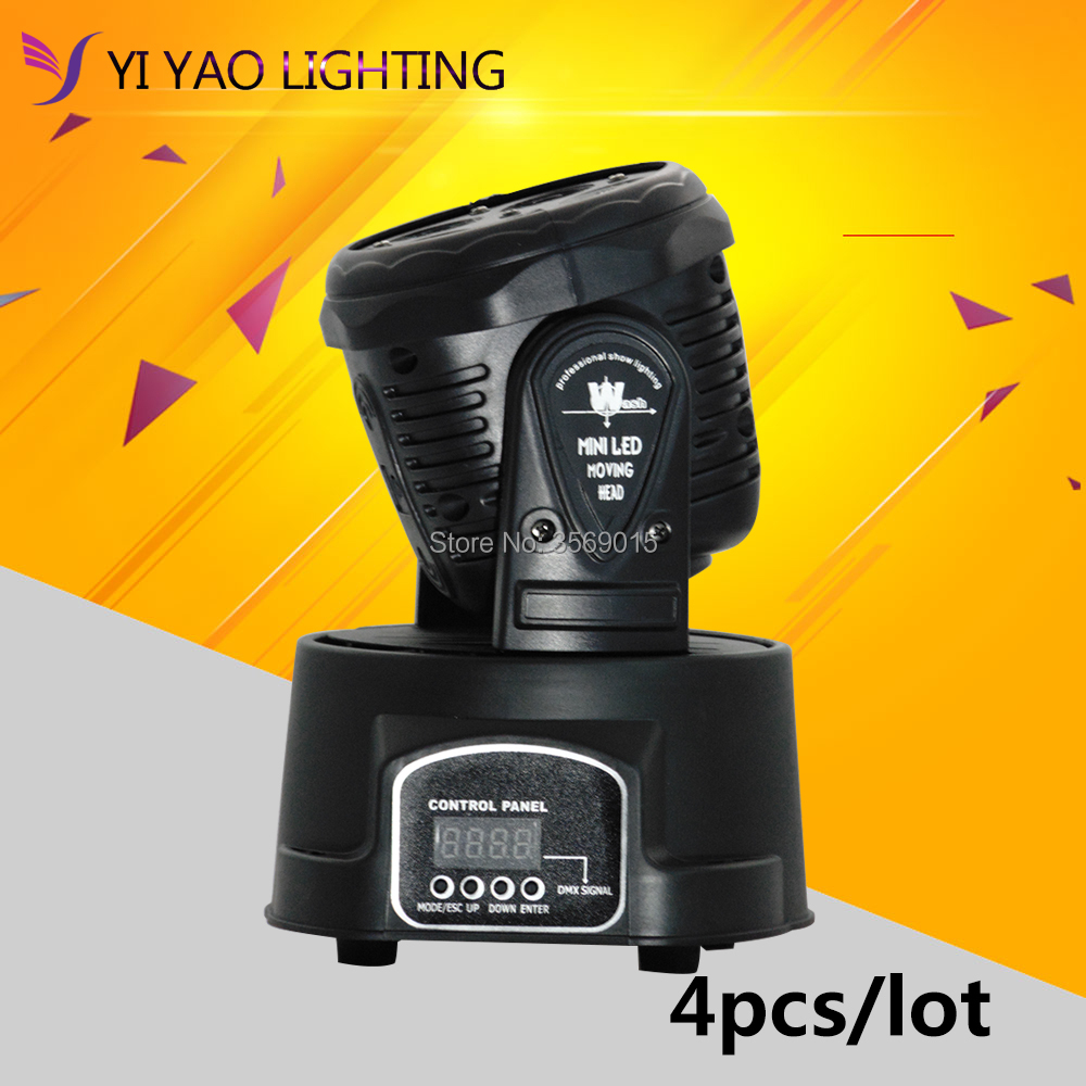 4pcs/lot Dj RGBWA UV 6in1 Moving Head 5x15w Led DMX Wash Stage Light Disco Party 2pcs lot mini led wash moving head 4x18w rgbwa uv dmx stage lights business high power with professional for party ktv disco dj