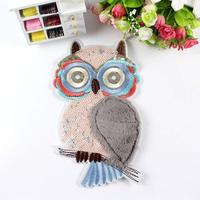 New 16*26cm large - scale fluffy owl cloth paste clothing accessories decorative clothing color patch accessories patch SC697