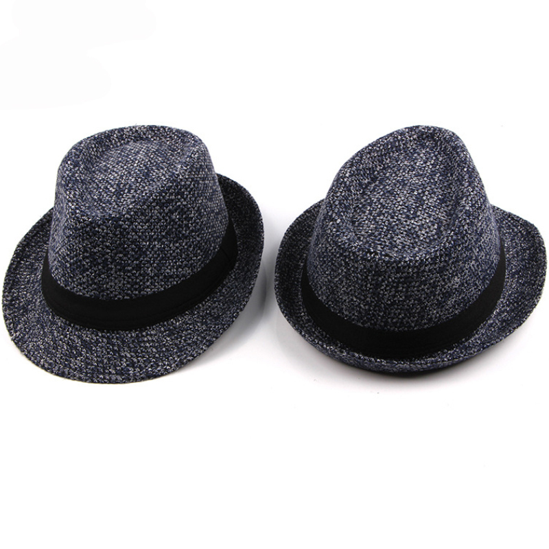 HT1513 British Style Fedora Hats for Men Autumn Winter Casual Trilby Hats Casual Knitted Derby Jazz Hats Classic Retro Men Hats in Men 39 s Fedoras from Apparel Accessories