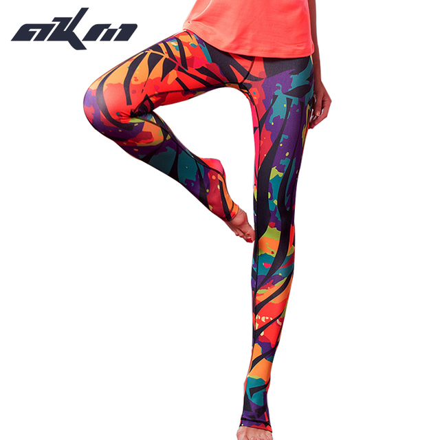 high quality Italian printing Women Clothes Slim Pants Leggings Fitness  step foot trousers
