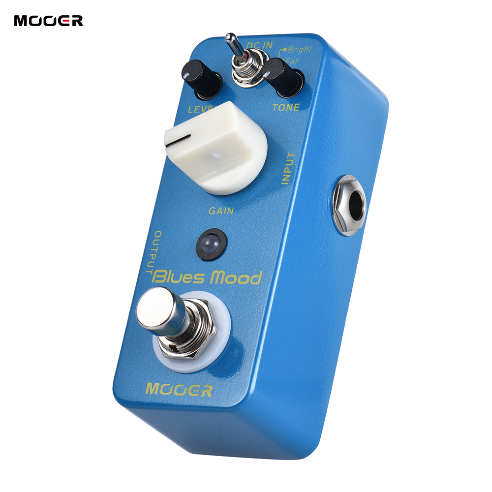MOOER Blue Mood Blues Style Overdrive Guitar Effect Pedal 2 Modes Bright Fat True Bypass Full