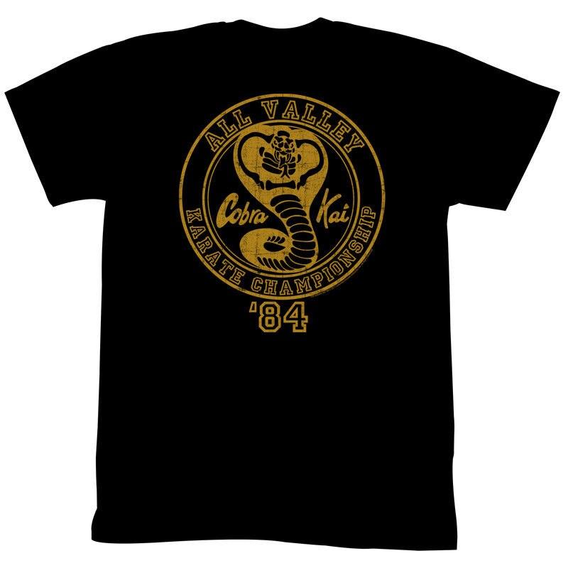 Карате малыш CK84 черный Для мужчин взрослых короткий рукав Футболка Скидка 100% хлопок футболка для Для мужчин; пять цветов текст