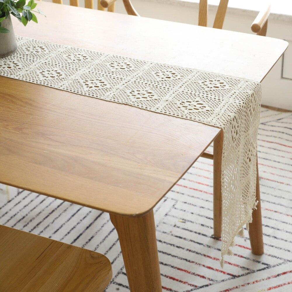 Moderno corredor de mesa de crochê chemin de mesa corredores de mesa para festa de casamento corredor de mesa camino de mesa tafelloper decoração de casa