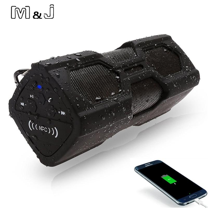 M&J NFC Waterproof Bluetooth Speaker Support Power Bank Portable Column Mini Speaker Wireless Soundbar For Phone PC Music