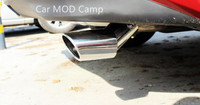 CAR STYLING For Saloon Sedan 2pcs Stainless Steel Rear Exhaust Muffler Tail Tip End Pipe For