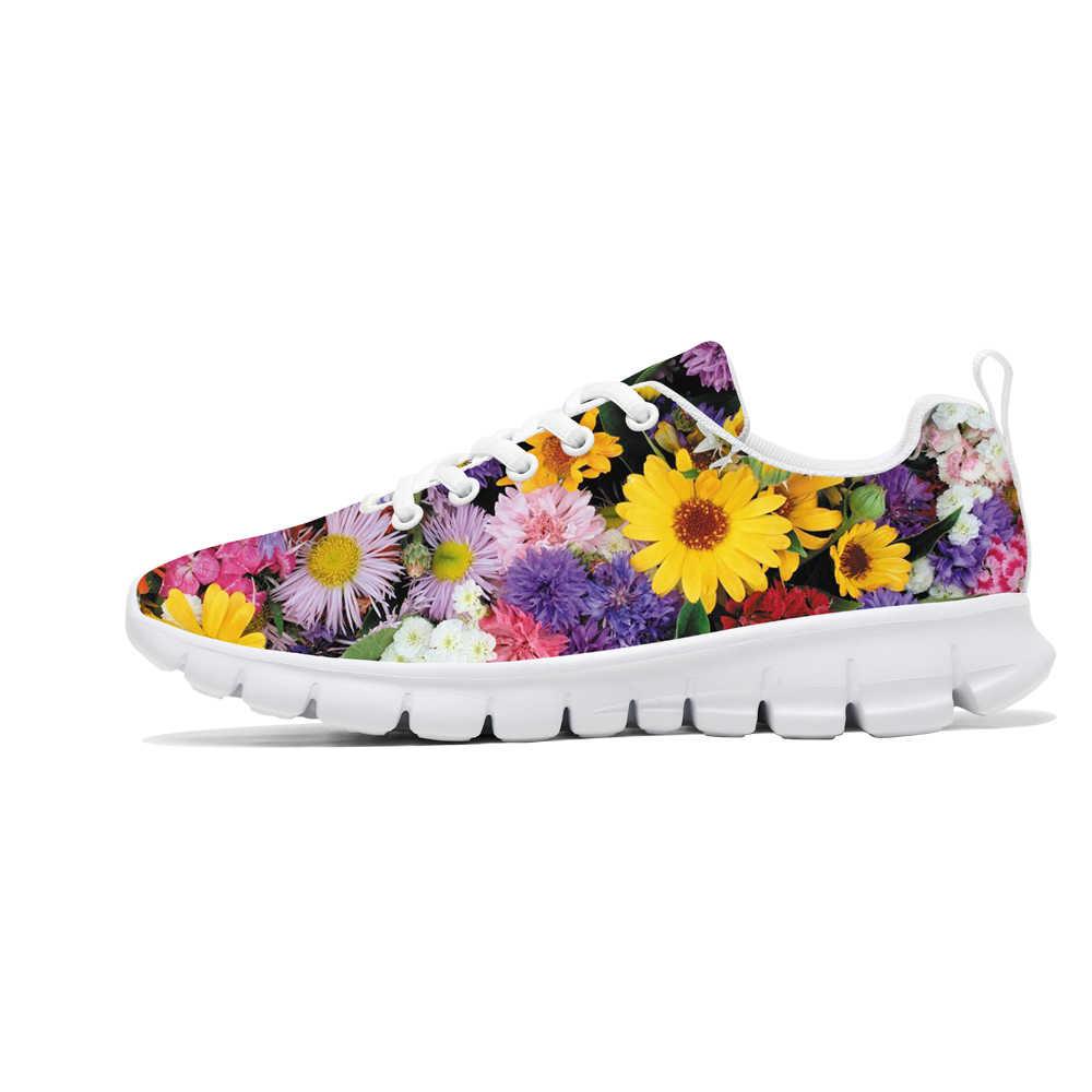2019 Scarpe delle Nuove Donne di Stile Stampa Floreale delle Donne Sneakers Leggero E Traspirante scarpe Da Ginnastica per la Signora di Sport Pattini Del Fiore