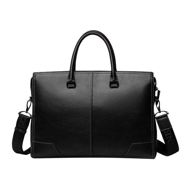 Мужская сумка мессенджер из натуральной кожи, Повседневная деловая сумка через плечо, 2019