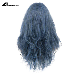 Image 4 - Anogol Brand New Witch of the Black Forestn Blue Curly Into the Woods Synthetic Cosplay Wig For Japanese Anime Costume Role Play