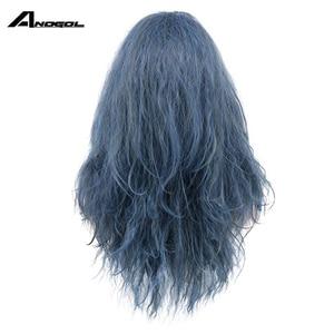 Image 4 - Anogolยี่ห้อใหม่แม่มดสีดำForestn Blue Curly Into The WoodsวิกผมCosplayสังเคราะห์ญี่ปุ่นอะนิเมะบทบาทเล่น