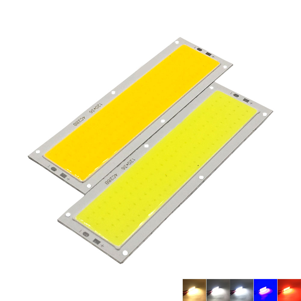 Huge Promotion 120*36mm COB LED Bulb 12V 10W 1000LM Light Emitting Diode Red Blue Warm Cool White LED Lamp for Home Car Lighting [sumbulbs] 200x10mm 0422 10w led light cob strip lamp dc 12 14v 1000lm green yellow red blue warm white pure white drl car light