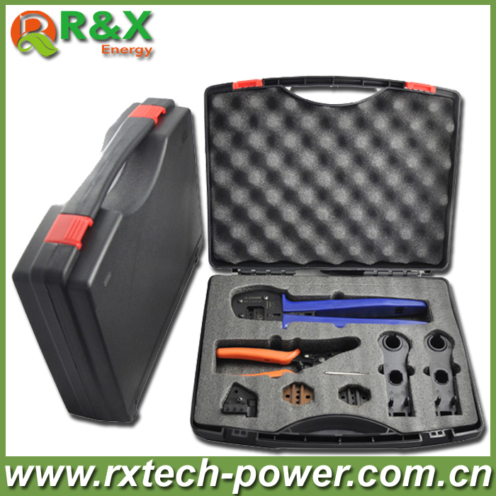MC4 Solar PV Tool Kit,MC4 Tool Box For MC3/MC4/Tyco connector, Multifunction Solar Kit include Crimping/Cutting/Stripping Plier new ratcheting ferrule crimping plier 800 connector terminal kit set tool for end sleeves