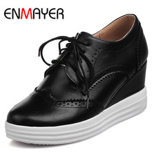 ENMAYER Flat Platform Plus Size 43 White Shoes Woman Cross-tied Flats Chaussures Femme Shoe 2017 Summer