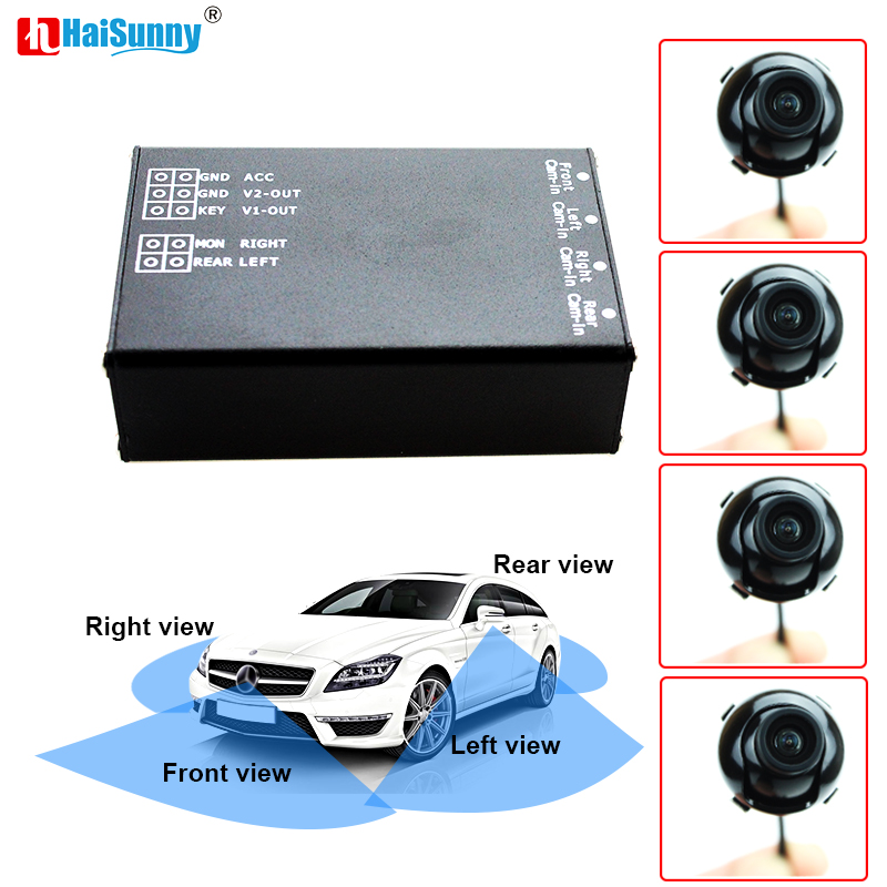 HaiSunny Car Parking Assistance Panoramic View All Round Rearview Camera System For All Car With Monitor