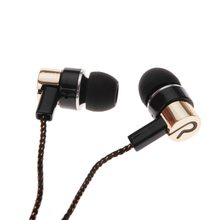 MP3/mp4 Roping Stereo 3.5mm Subwoofer In Ear Oordopjes 1.1 M Reflecterende Fiber Doek Lijn Metalen Oortelefoon Hot koop(China)