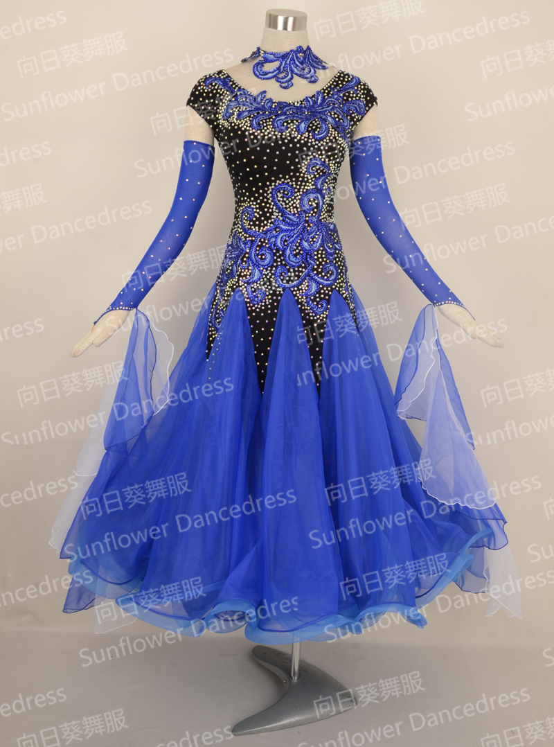 New Competition ballroom Standard dance font b dress b font dance clothing stage wear ballom dance