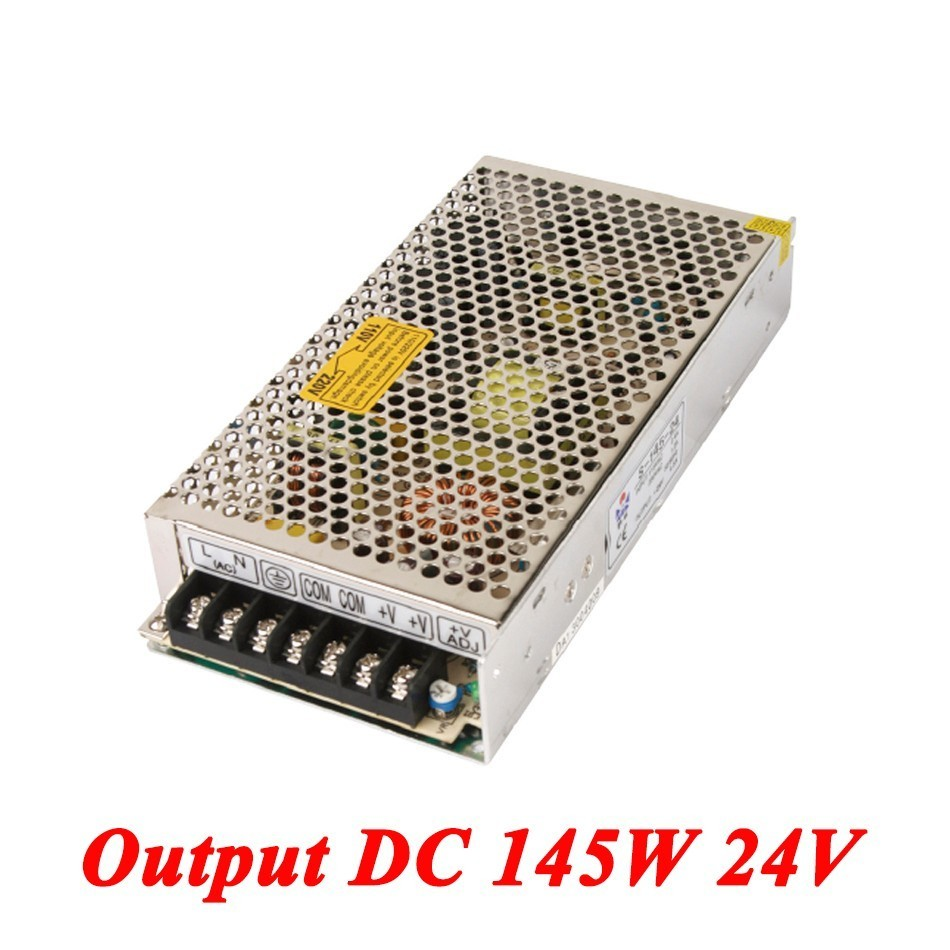 S-145-24 145W 24v 6A,Single Output Watt Switching Smps Power Supply For Led Driver,voltage Converter AC110V/220v To Dc 24v SMPS 145w 24v 6a single output switching power supply for led strip light ac to dc smps