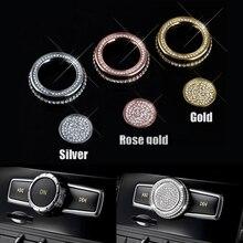 Автомобильные CD наклейки панель бампер звук ручка бриллиантовые наклейки для Mercedes Benz C E класс GLA GLK CLA200 CLS GLE класс автомобильные аксессуары