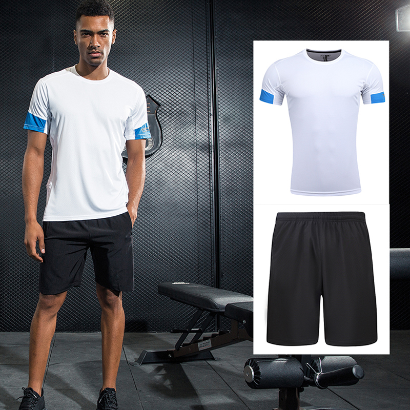 Sports & Entertainment Painstaking Summer Mens Running Sets Quick Dry Jogging Sportswear Suits Short Sleeve Shirt And Shorts Fitness Gym Soccer Sport Suit Hot Sale 50-70% OFF Running Sets