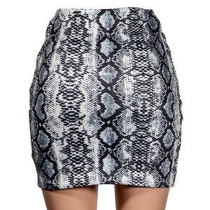 Image 5 - Sexy Women Snake Print Skirt Summer High Waist Mini Skirt Short Pencil Bodycon Femme Slim Package Hip Plus Size 2019