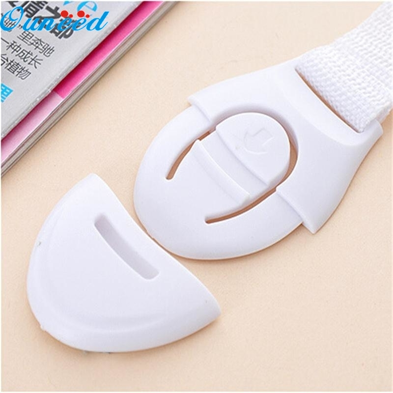 Ouneed Happy Home 10Pcs Baby Adhesive Safety Lock For Cabinet Door Drawers Refrigerator