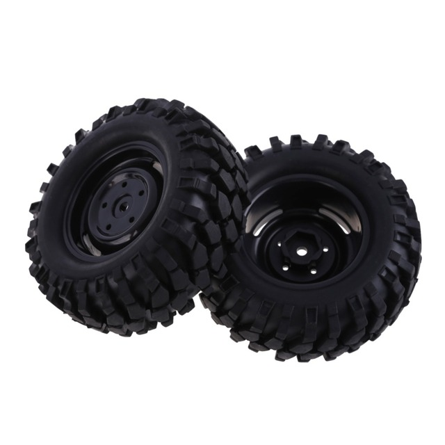 4PCS RC Car Tire Rubber Tires Wheel Rims HPI 1:10 Off-Road Car Beach Rock Crawler Wheel
