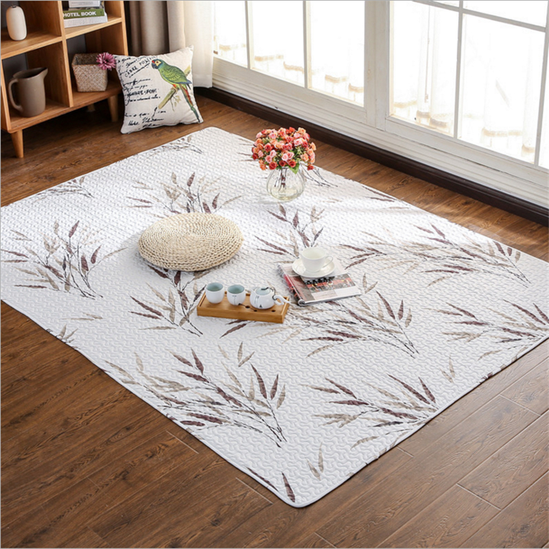 2017 New Fashion Simple Japanese Style Cotton Soft Large Carpet For Living Room Bedroom Kid Room Rug Home Floor Delicate Carpet