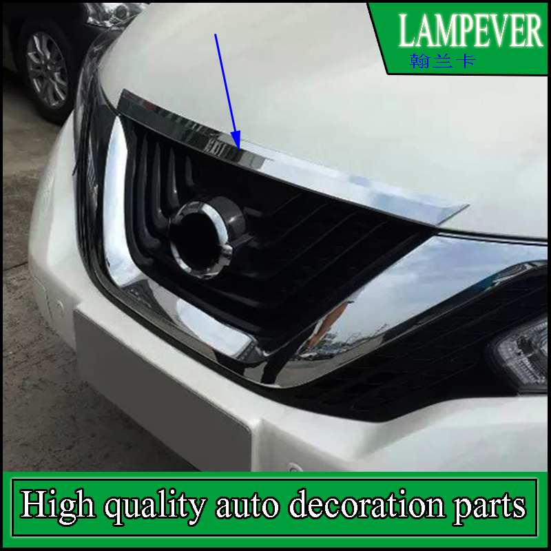 Car Styling ABS Cover Trim For Nissan Murano 2015 2016 2017 Chrome Front Engine Hood Bonnet Grill Grille Lip Molding Cover Trim