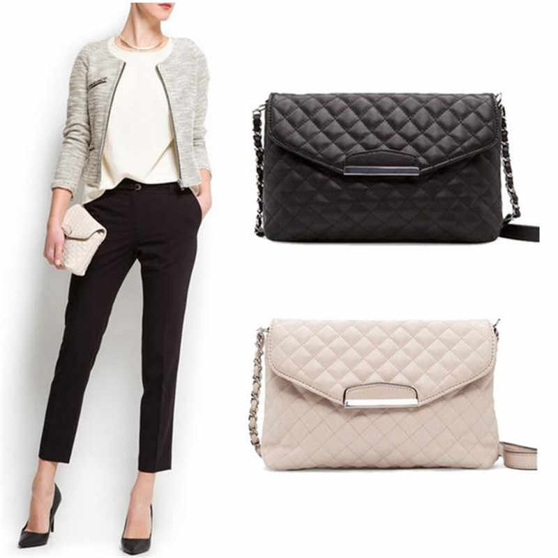 62e84327eae9d Fashion Women Handbag Shoulder Bag Leather Messenger Hobo Bag Satchel Purse  Tote Fashion Womens Ladies Black White Handbags New