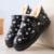 Novo 2016 mulheres botas grossas botas de neve de pelúcia inverno quente sapatos da moda deslizar sobre plano mulheres ankle boots botas de algodão à prova d' água-de algodão acolchoado sapatos